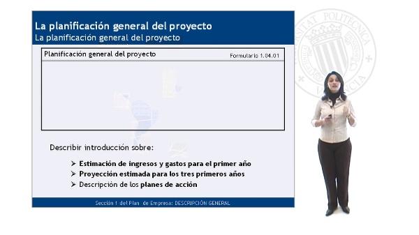La Planificación General del Proyecto