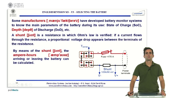 M3.U5.4. Selecting the battery. English Grammar / spelling revision
