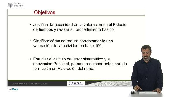 VALORACIÓN DE LA ACTIVIDAD EN ESTUDIO DE TIEMPOS