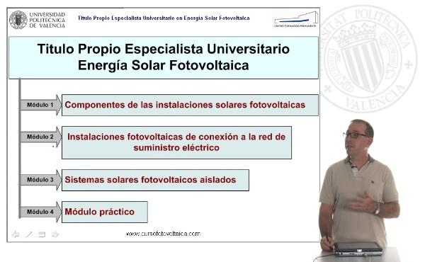 Título Propio de Especialista Universitario en Energía Solar Fotovoltaica (on-line)