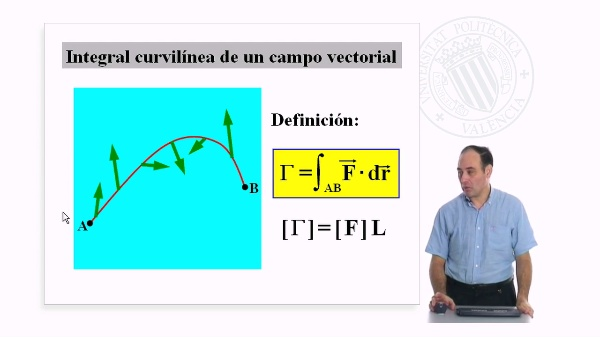 Integral curvilinea de un campo vectorial