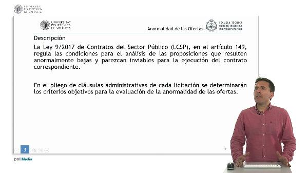 Ley de Contratos del Sector Público. Criterios de Anormalidad de las Ofertas