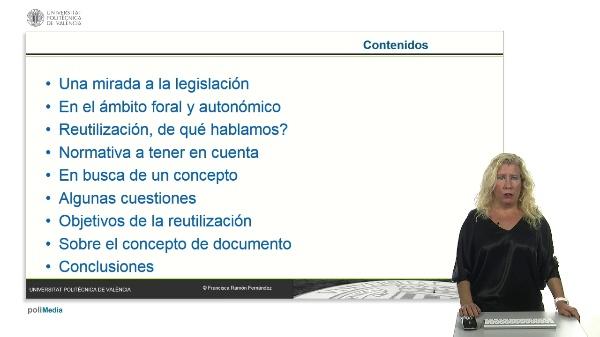 Tratamiento legislativo del principio de reutilización en la legislación de transparencia: algunas cuestiones