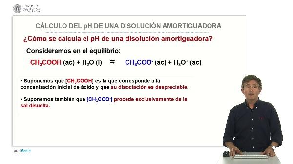 Cálculo del ph de una disolución amortiguadora