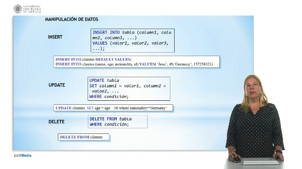 SQL: Lenguaje de manipulación de datos