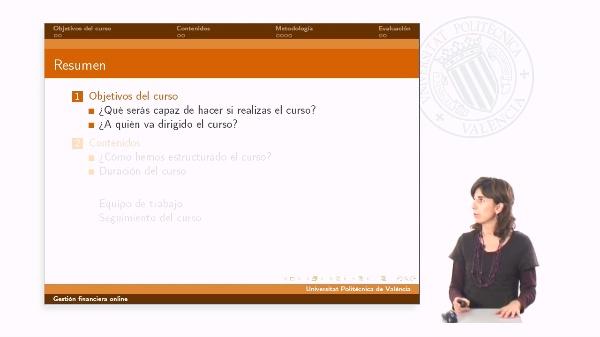 Presentación del curso Gestión Financiera