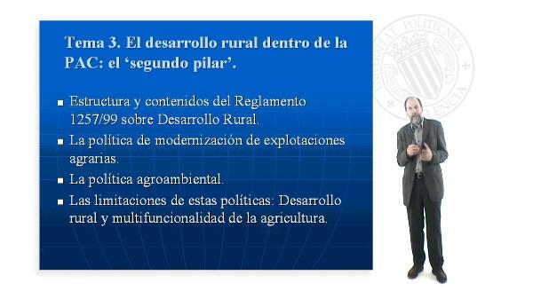 Desarrollo Rural:políticas estructurales y rurales