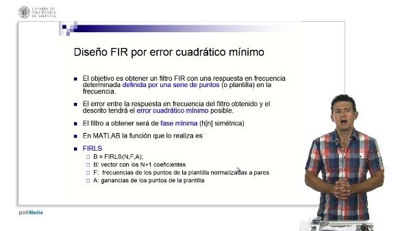 Diseño de filtros FIR de error cuadrático mínimo