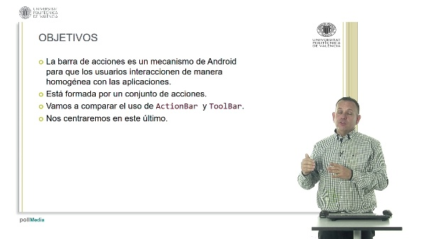 La  barra de acciones (ToolBar) en Android