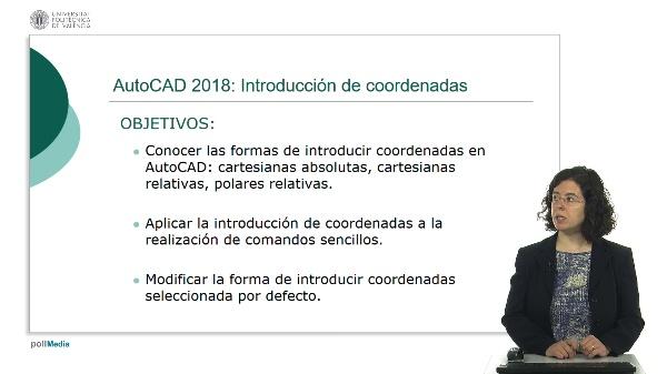 Autocad 2018: introducción de coordenadas.