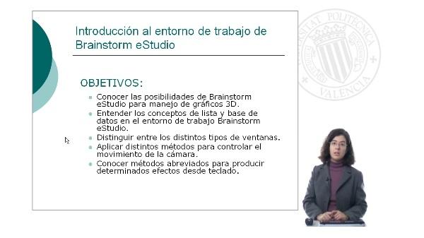 Introducción al entorno de trabajo de Brainstorm Studio