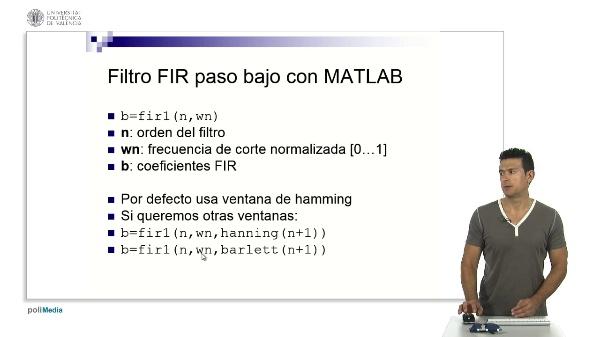 Funciones MATLAB de diseño FIR por enventado (i)