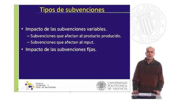 Principales impactos económicos de las Subvenciones