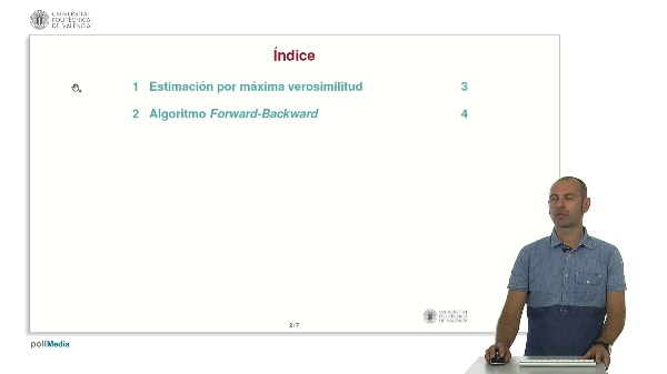 Aprendizaje de HMMs: Algortimo Fordward-Backward