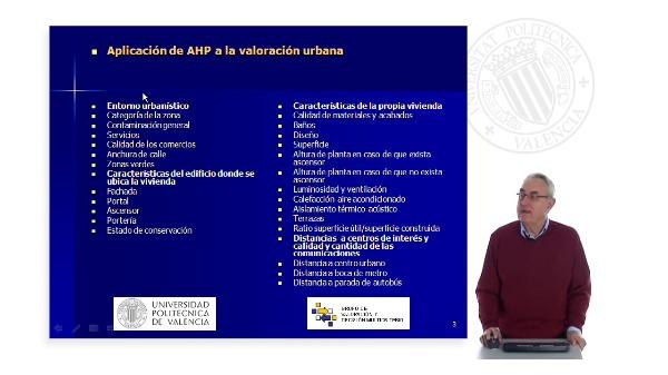 Aplicación de AHP a la valoración urbana