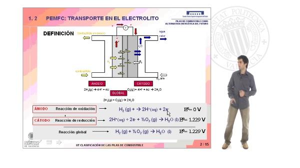 Pilas de combustible de intercambio protónico: Transporte en el electrolito