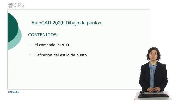 AutoCAD 2020: Dibujo de puntos.