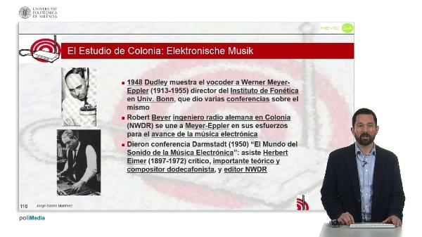 Historia de la Música Electrónica: Estudio de Colonia: Elektronische Musik