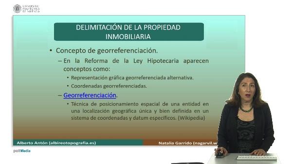Delimitación de la propiedad inmobiliaria. Georeferenciación