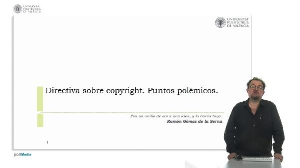 Directiva sobre copyright. Puntos polémicos.
