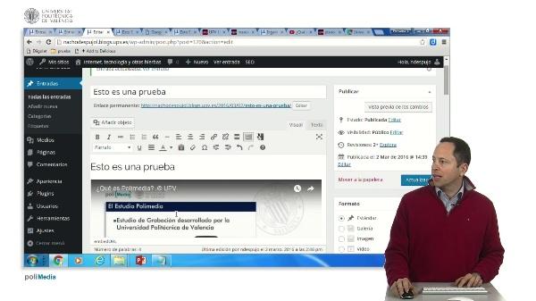 Opciones avanzadas al crear una entrada en Wordpress