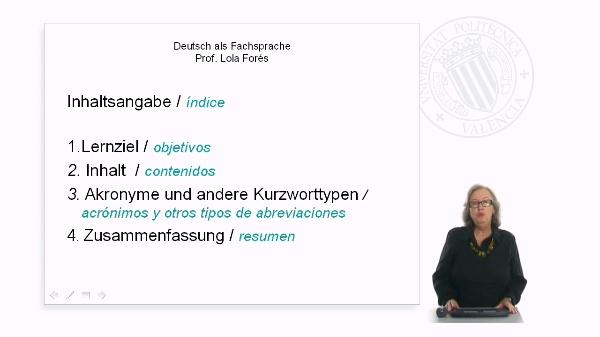 Alemán como lengua de especialidad II
