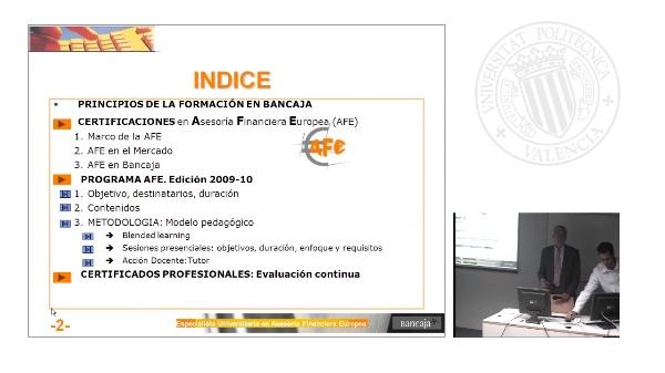 Sesión inaugural 3ª edición AFE Bancaja 09-10