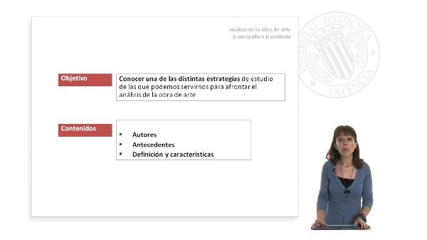 ANÁLISIS DE LA OBRA DE ARTE. Iconografía e Iconología