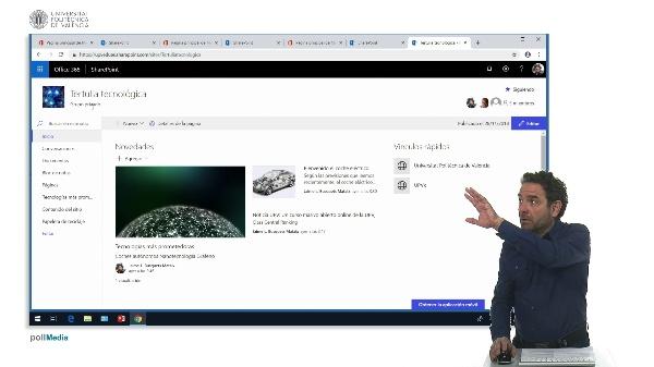 Organizar la página de inicio del sitio SharePoint