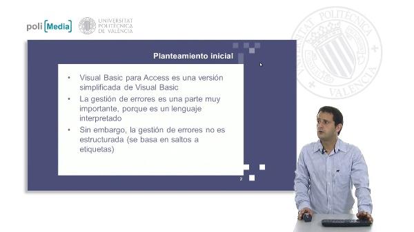 Gestión de errores en Visual Basic para Access