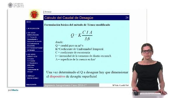 Cálculo del caudal.