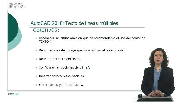 AutoCAD 2018: Texto de líneas múltiples