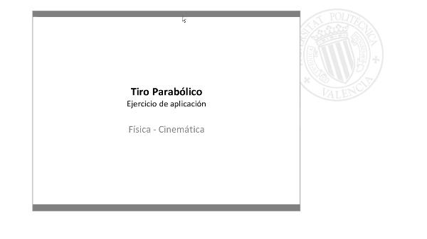 Tiro Parabólico - Ejemplo