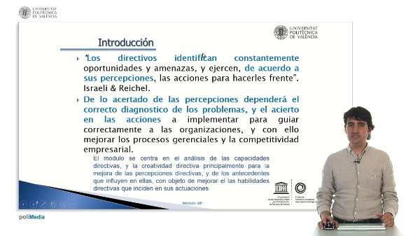 Presentacion Modulo Management of Personal Capabilities and Creativity (Managerial Perception)