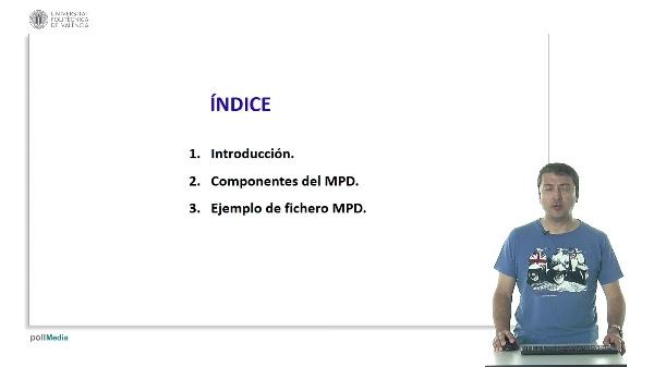 Ejemplo de identificación de componentes en un fichero índice de MPEG-DASH