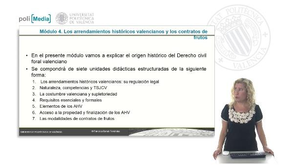 Los arrendamientos históricos valencianos: su regulación legal