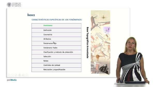 Características especificas de los fenómenos en la Base Topográfica Armonizada (BTA)