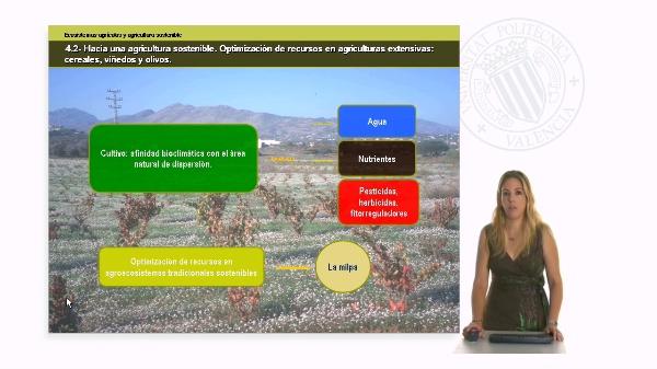 Unidad 4.2 Hacia una agricultura sostenible. Optimización de recursos en agriculturas extensivas
