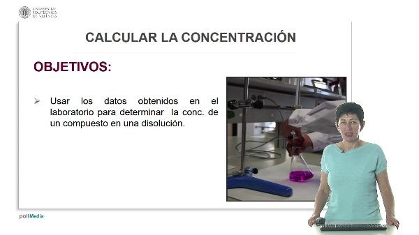 Lección 2. Calcular la concentración.