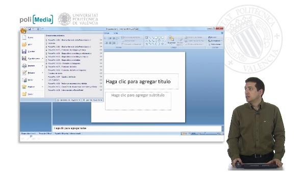 Diseño general de la presentación