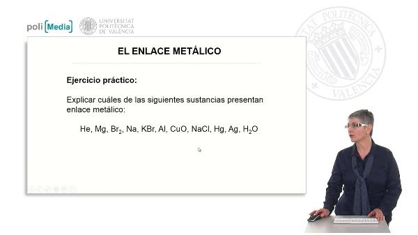 El enlace metálico (ejercicio práctico