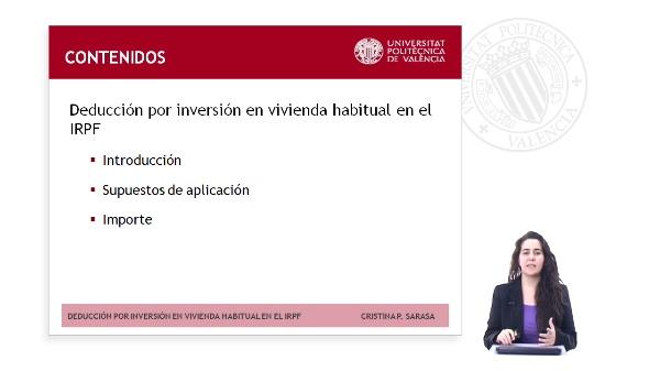 DEDUCCION POR INVERSION EN VIVIENDA HABITUAL EN EL IMPUESTO SOBRE LA RENTA DE LAS PERSONAS FISICAS