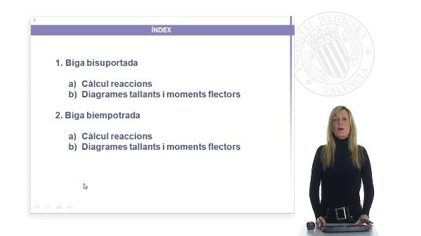 Diagrama de moments en Bigues bisuportades i biempotrades