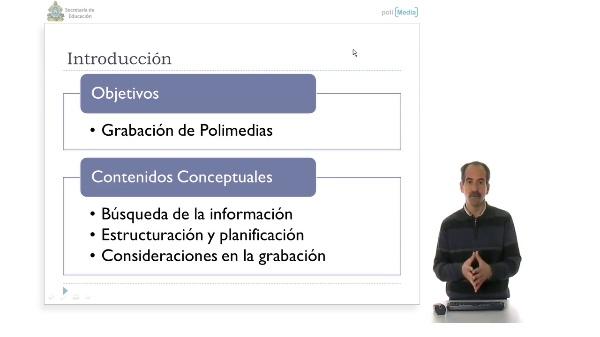 Presentación con Polimedia: Realización de la Grabación