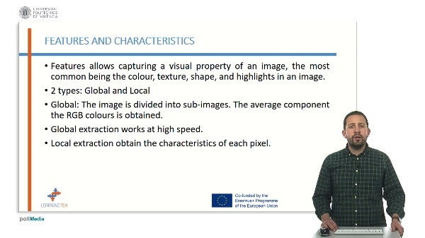 Extraction for characteristics from an image
