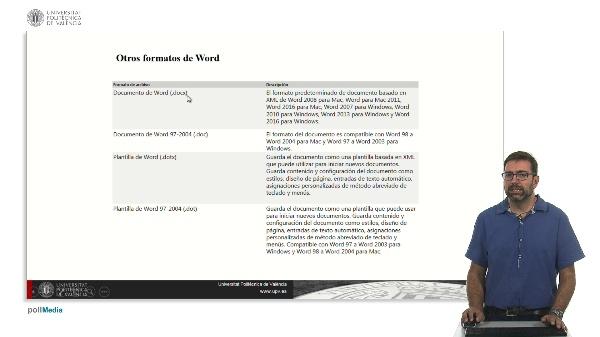 Otros tipos de formato Word 2016