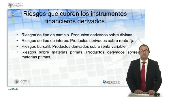Riesgos que cubren instrumentos financieros derivados