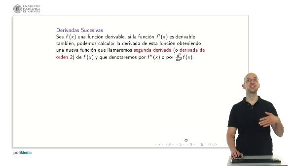 Derivadas sucesivas y polinomio de Taylor