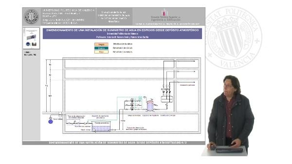 Hidráulica. Dimensionamiento de una instalación de suministro de agua en edificios desde depósito atmosférico