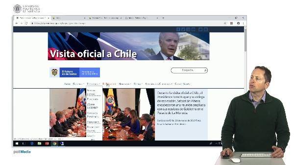 Buscar en Internet. Web administrativas de Colombia